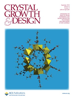 Crystal Growth & Design: Volume 13, Issue 9