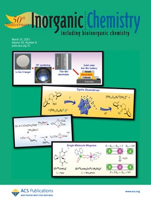 Inorganic Chemistry: Volume 50, Issue 6