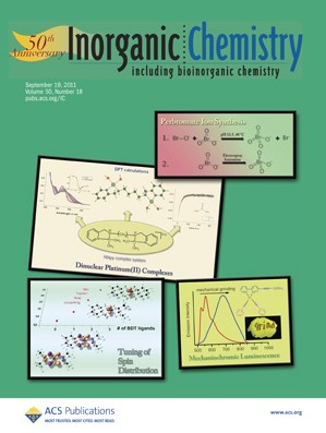 Inorganic Chemistry: Volume 50, Issue 18