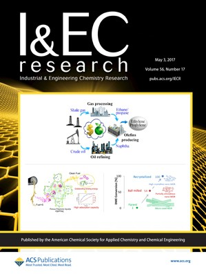 Industrial and Engineering Chemistry Research: Volume 56, Issue 17