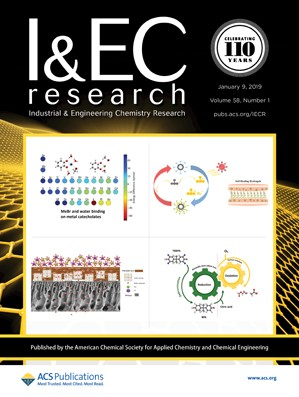 Industrial and Engineering Chemistry Research: Volume 58, Issue 1