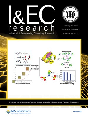 Industrial and Engineering Chemistry Research: Volume 58, Issue 3