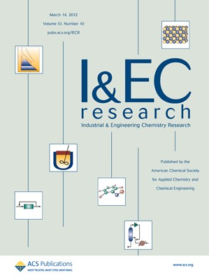 Industrial & Engineering Chemistry Research: Volume 51, Issue 10