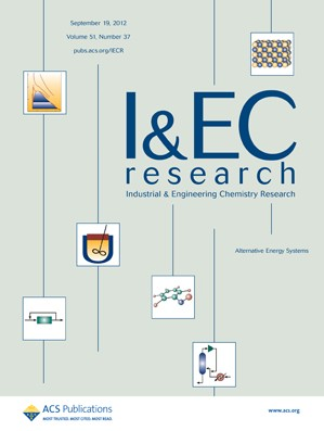 Industrial & Engineering Chemistry Research: Volume 51, Issue 37