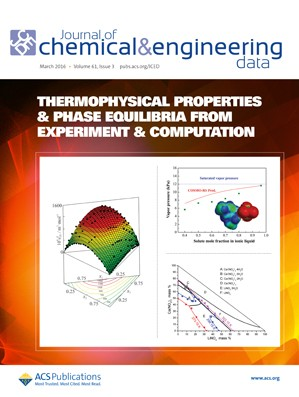 Journal of Chemical and Engineering Data: Volume 61, Issue 3