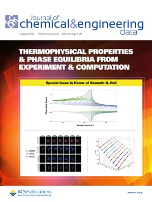 Journal of Chemical and Engineering Data: Volume 61, Issue 8