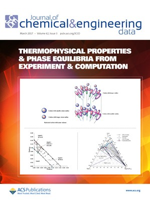 Journal of Chemical & Engineering Data: Volume 62, Issue 3