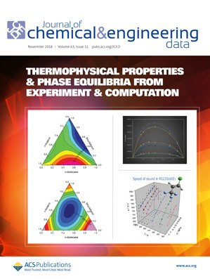Journal of Chemical & Engineering Data: Volume 63, Issue 11