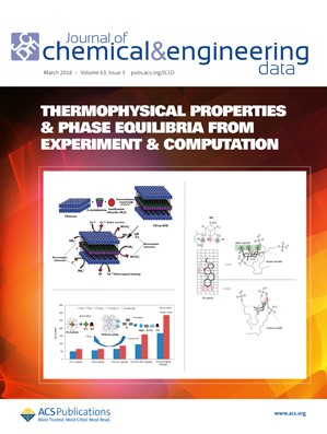 Journal of Chemical & Engineering Data: Volume 63, Issue 3