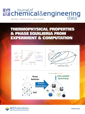 Journal of Chemical & Engineering Data: Volume 63, Issue 4