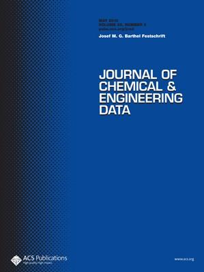 Journal of Chemical & Engineering Data: Volume 55, Issue 5