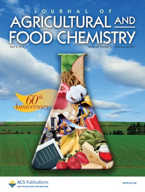 Journal of Agricultural and Food Chemistry: Volume 60, Issue 13