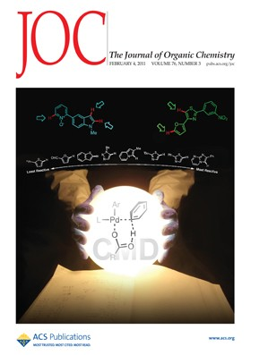 The Journal of Organic Chemistry: Volume 76, Issue 3