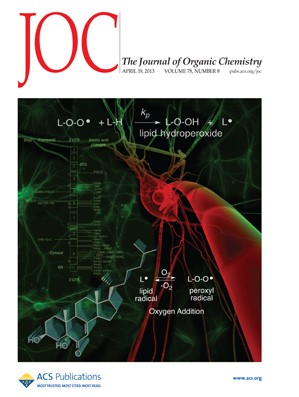 The Journal of Organic Chemistry: Volume 78, Issue 8