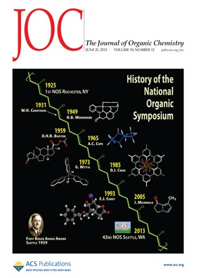The Journal of Organic Chemistry: Volume 78, Issue 12