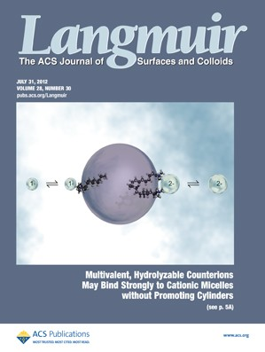 Langmuir: Volume 28, Issue 30
