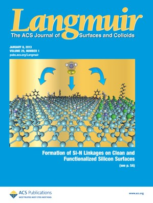 Langmuir: Volume 29, Issue 1