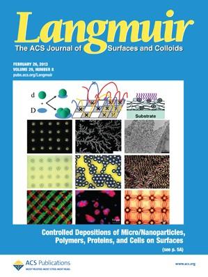 Langmuir: Volume 29, Issue 8