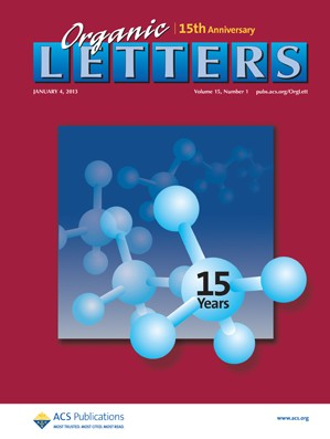 Organic Letters: Volume 15, Issue 1