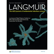 Langmuir: Volume 32, Issue 10