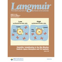Langmuir: Volume 28, Issue 33