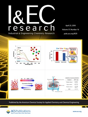 Industrial and Engineering Chemistry Research: Volume 57, Issue 16