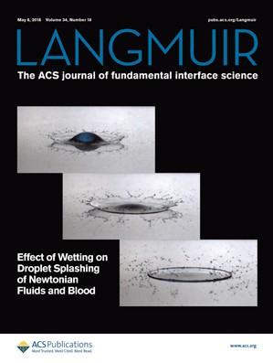 Langmuir: Volume 34, Issue 18